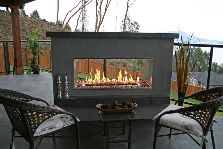 3 ways a see through fireplace can enhance your home for See thru fireplaces