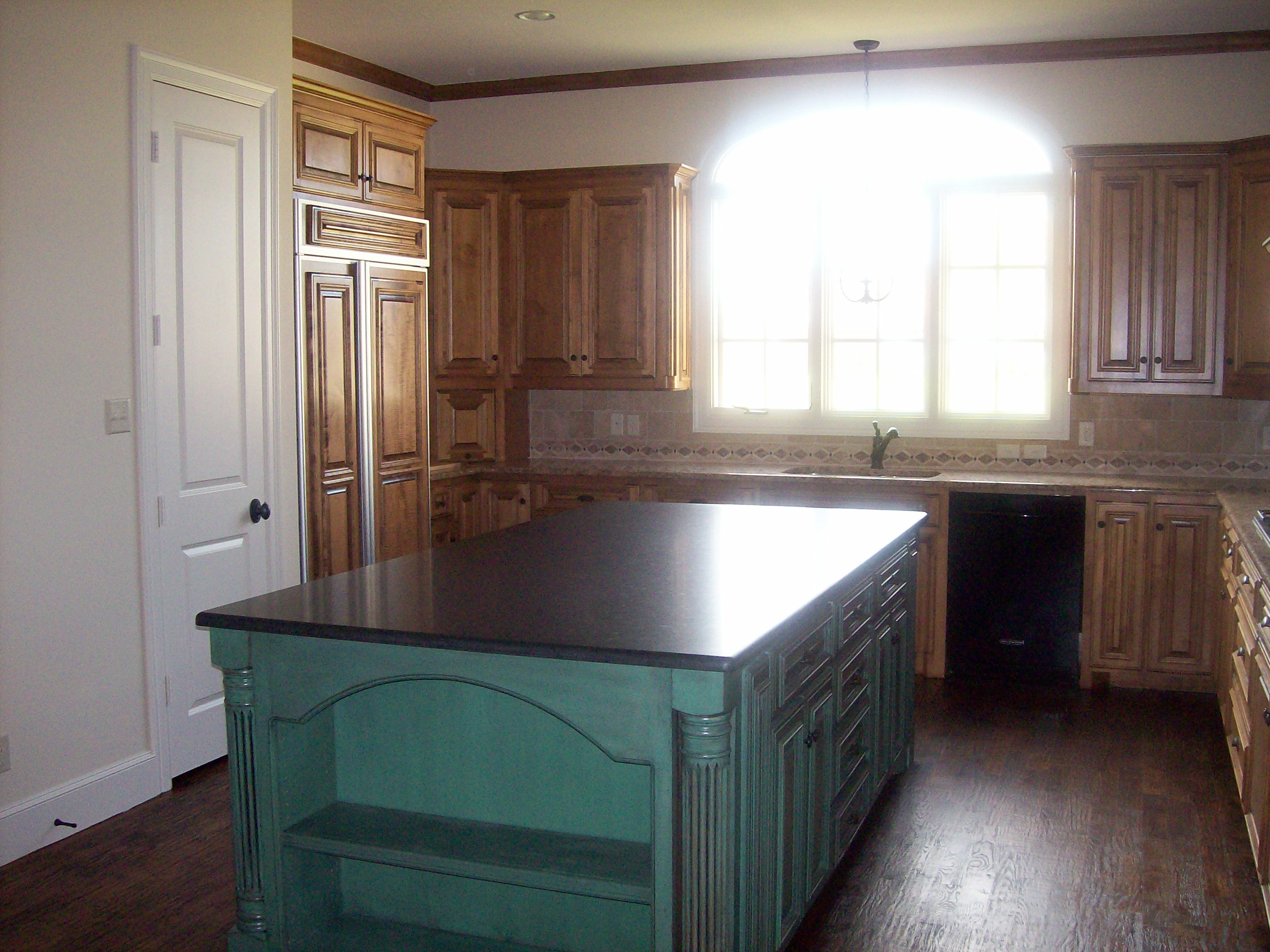 Faux Finished Kitchen Island Rick Robinson Builders