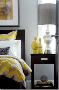Yellow Gray Bedroom (remodelaholic.com)