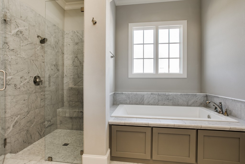 master tub and shower - Bathroom Remodel Fort Worth