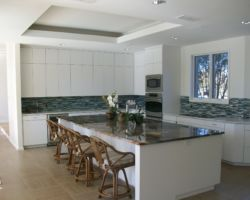 Modern Kitchen with Blue Louise Granite