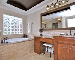 Bathroom with Coved Ceiling