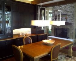 Breakfast table and hutch