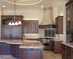 Stained-wood Kitchen
